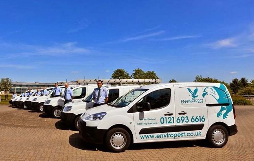 An image of a number of vans used by Enviropest Control Services Limited - a pest control company serving customers in Birmingham, Solihull, Coventry, and Wolverhampton